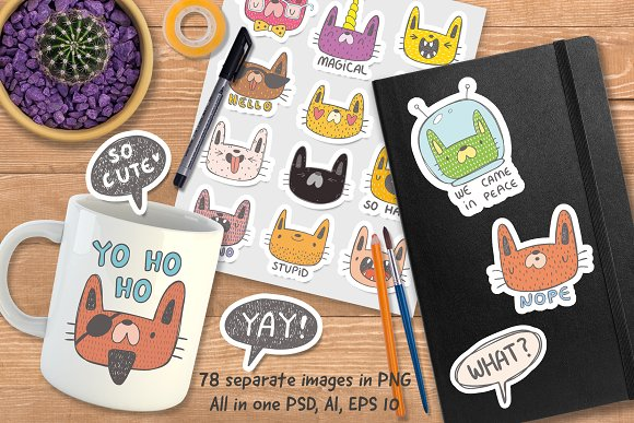 80% Off Collection Of Doodle Cats