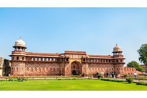 Jahangir Palace at Agra Fort. UNESCO world heritage site in India
