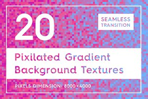 20 Pixilated Gradient Backgrounds