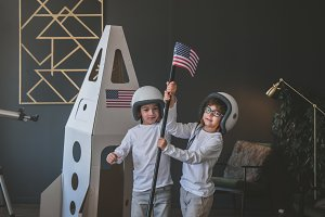 Moon landing at home