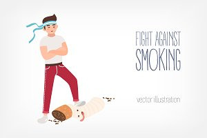 Concept of fight against smoking