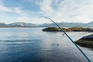 Beautiful view on norwegian fjords from atlantic road