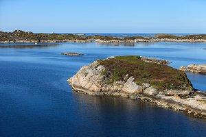 Beautiful view on norwegian fjords