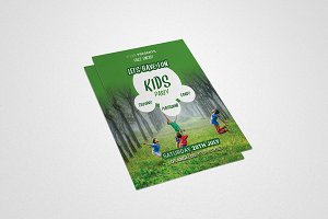 Children's or Kids Party Flyer #043