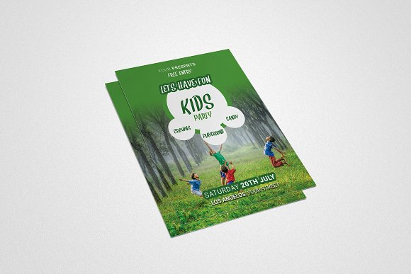 ChildrenЎЇs Or Kids Party Flyer