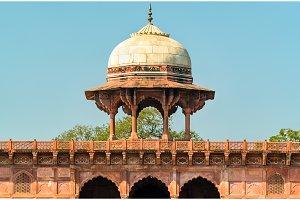 Western Naubat Khana Pavilion at the Taj Mahal - Agra, India