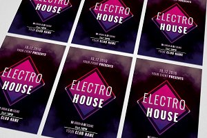 Electro House Music Flyer