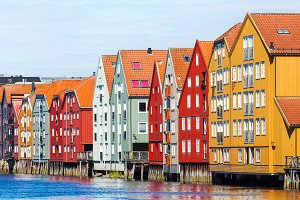Famous houses in Trondheim, Norway