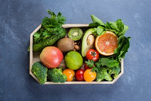 Healthy Food Clean Concept.