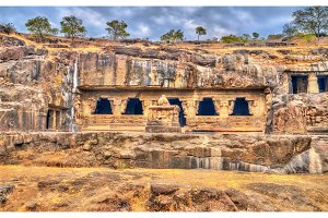 Rameshwar temple, cave 21 at the Ellora complex. UNESCO world heritage site in Maharashtra, India