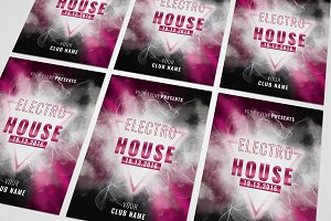 Electro House Music Flyer #033