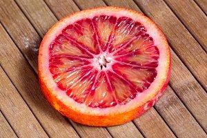 cut Sicilian orange