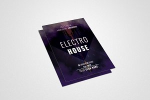 Electro House Music Flyer #032