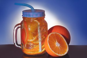 beverage with orange and ice