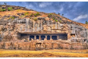 Kumbharvada, cave 25 at the Ellora complex. UNESCO world heritage site in Maharashtra, India