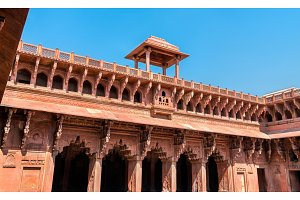 Jahangiri Mahal, a palace at Agra Fort. UNESCO world heritage site in India