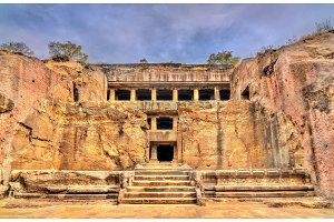 Mahayana Buddhist monastery at Ellora Caves. A UNESCO world heritage site in Maharashtra, India
