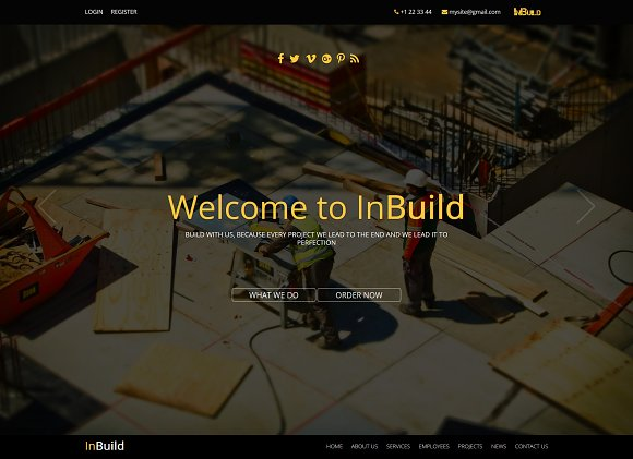 InBuild One Page HTML Template