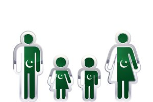 People icon with Pakistan flag