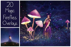 20 Magic Fireflies Overlays