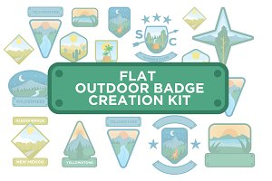 Flat Outdoor Badge Creation Kit