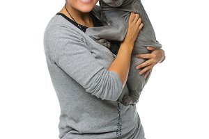 girl with thai ridgeback puppy