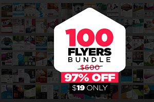 100 Business Flyer Bundle 97%OFF