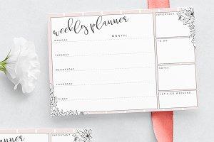 Weekly planner - floral design