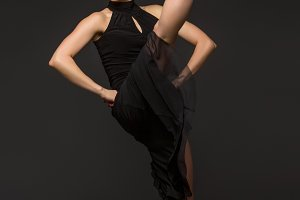 girl dancer in tango dress