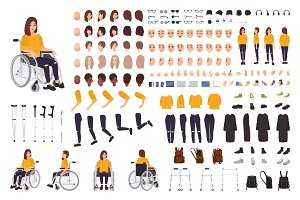 Young disabled woman - DIY kit