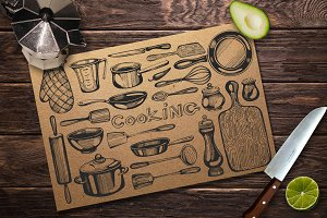 Kitchenware - sketch illustrations