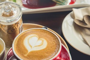 Coffee heart cup