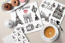 Paris - hand drawn illustrations
