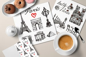 Paris - hand drawn illustrations