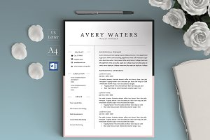 Graduate Resume/CV for Word - Avery