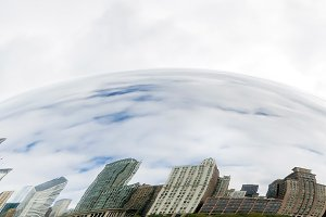Buildings of Chicago reflected