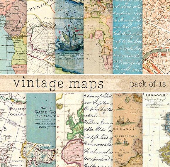 Vintage Maps Paper