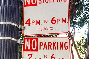 A parking sign in San Francisco