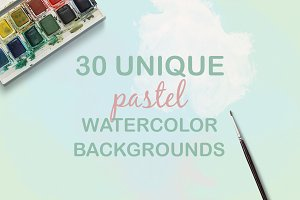 30 Pastel Watercolour Backgrounds