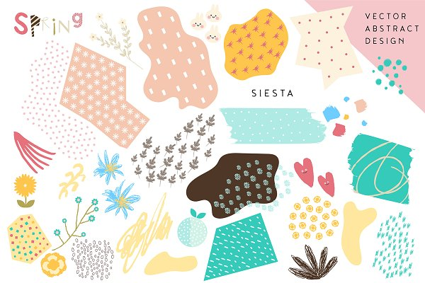 Patterns: Paperly Studio - Spring Siesta - Romantic, Abstract