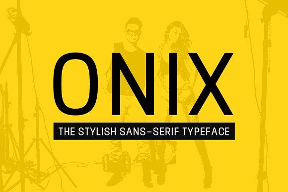 ONIX Stylish Typeface Web Fonts
