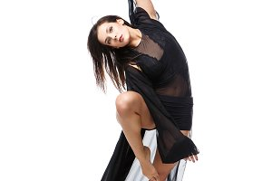 Beautiful modern dancer girl