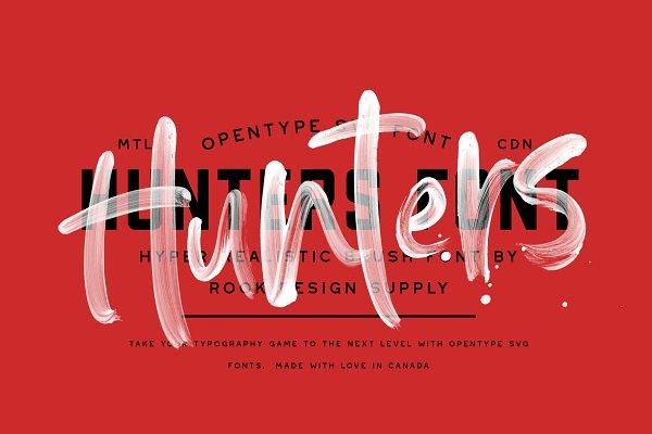 Hunters Opentype SVG Font