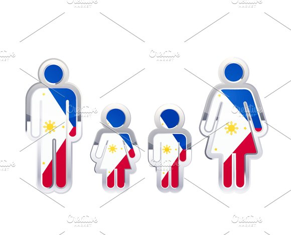 People Icon With Philippines Flag