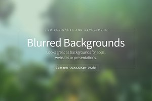 Blurred Backgrounds Set. 01