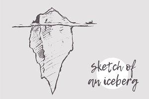 Sketch of an iceberg