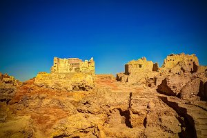 Ruins of the Amun Oracle temple,Siwa oasis, Egypt