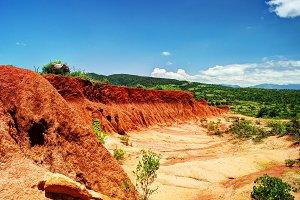 Erosion sand ravine