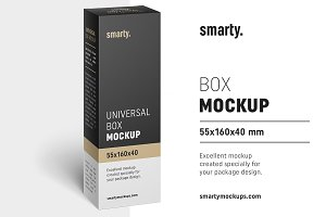 Box mockup / 55x160x40 mm