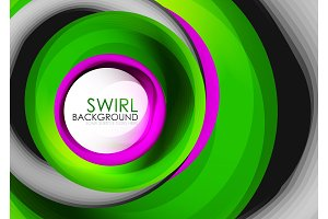 Spiral swirl flowing lines 3d vector abstract digital motion background design. Rotating concept
